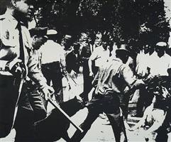 birmingham race riots [ii.3] , from ten works by ten painters, 1964 by andy warhol